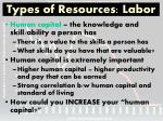 types of resources labor1