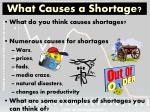 what causes a shortage