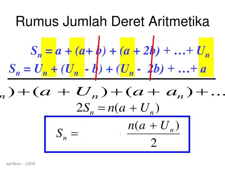 Rumus Jumlah Deret Aritmetika