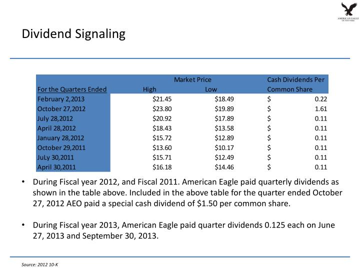 Dividend Signaling