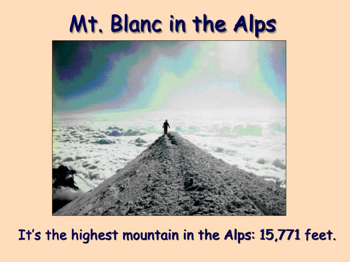 Mt. Blanc in the Alps