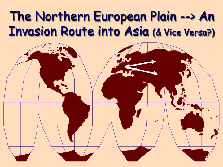 The Northern European Plain --> An Invasion Route into Asia