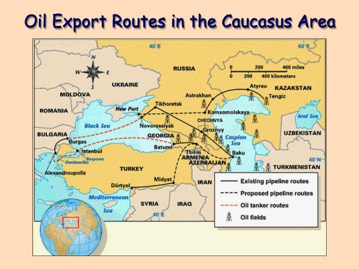Oil Export Routes in the Caucasus Area