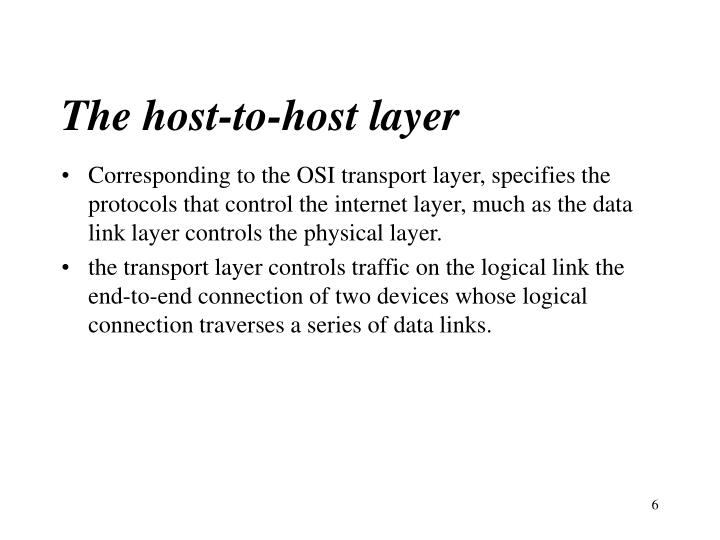 The host-to-host layer