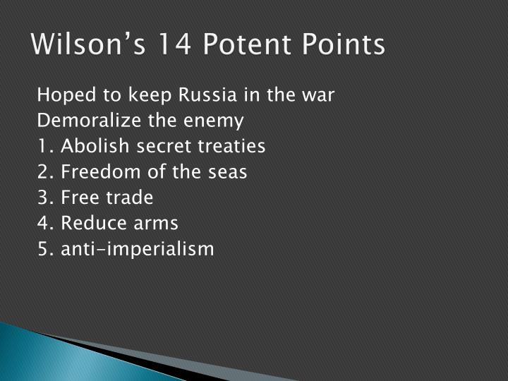 Wilson's 14 Potent Points
