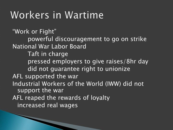 Workers in Wartime