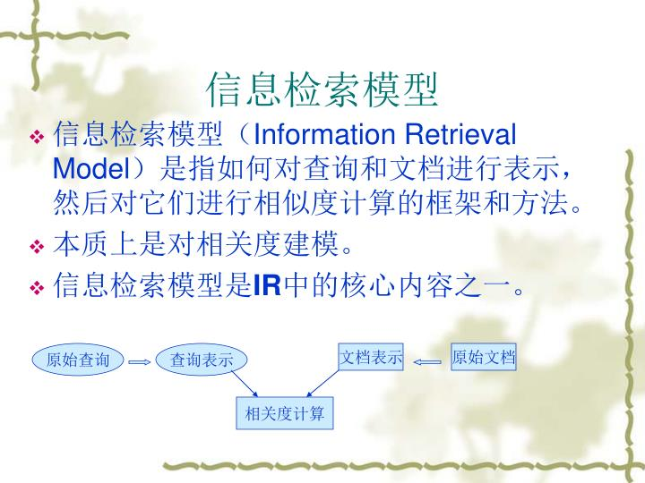 信息检索模型