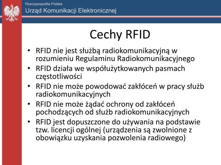Cechy RFID