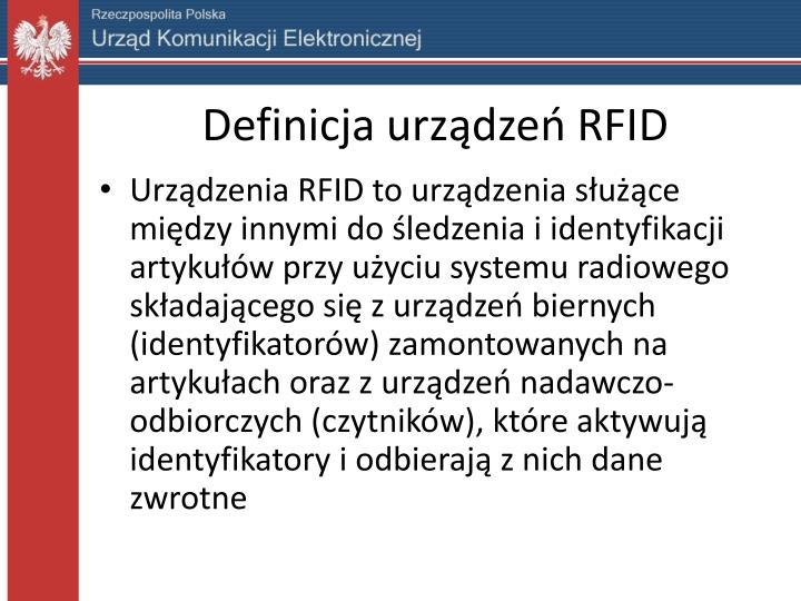 Definicja urządzeń RFID
