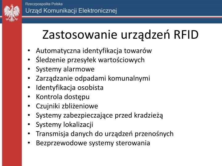 Zastosowanie urządzeń RFID