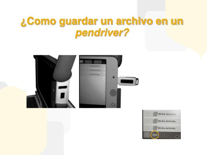 ¿Como guardar un archivo en un