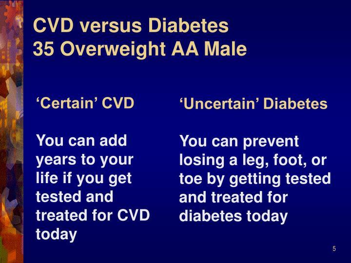 CVD versus Diabetes