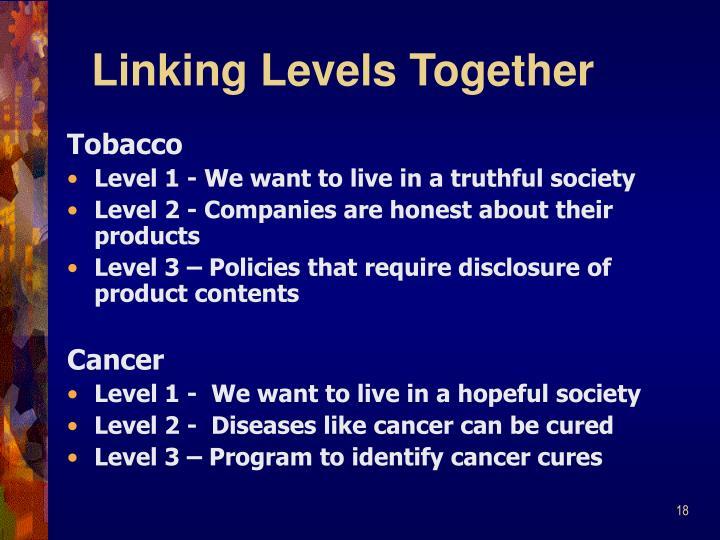 Linking Levels Together