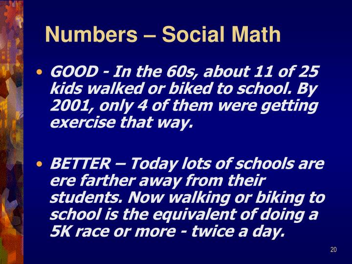 Numbers – Social Math