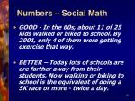 numbers social math