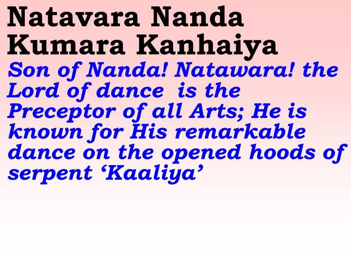 Natavara Nanda Kumara Kanhaiya
