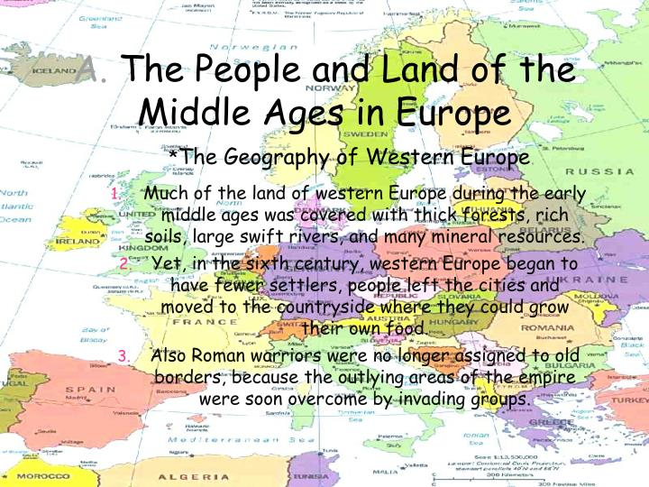 A the people and land of the middle ages in europe1