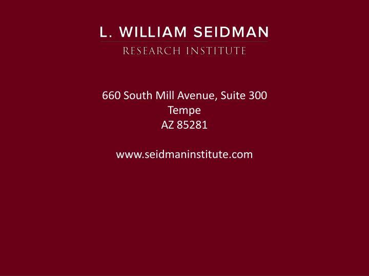 660 South Mill Avenue, Suite 300