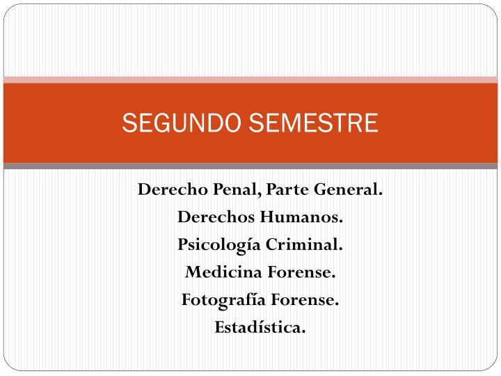 SEGUNDO SEMESTRE