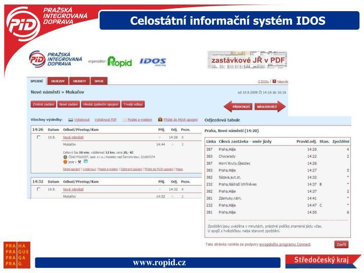 Celostátní informační systém IDOS