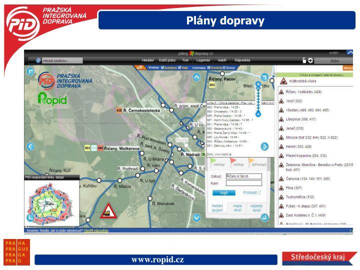 Plány dopravy