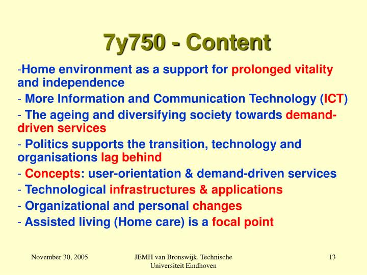 7y750 - Content