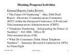 meeting progress activities