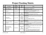project tracking matrix