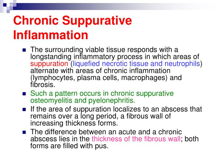 Chronic Suppurative Inflammation