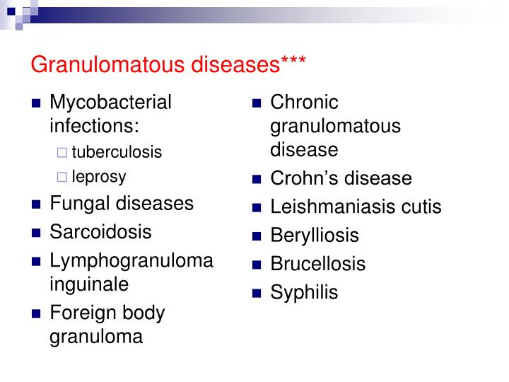 Mycobacterial infections: