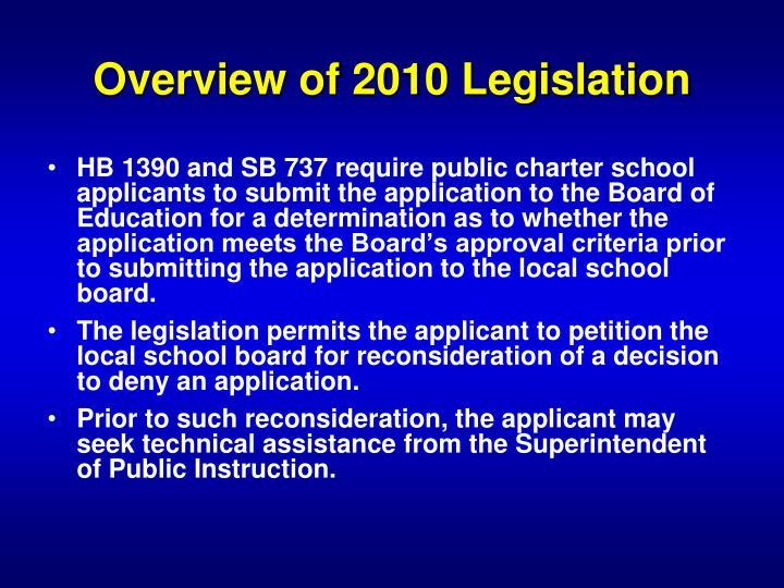 Overview of 2010 Legislation