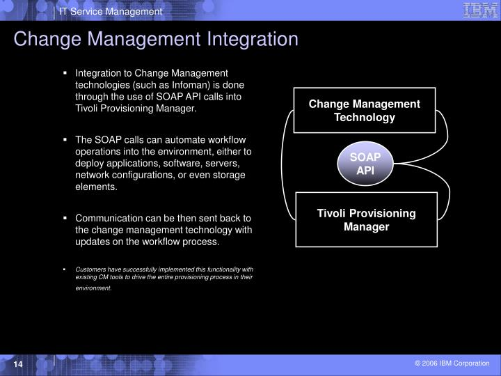 Change Management Integration