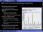 ibm tivoli provisioning manager reporting