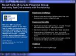 royal bank of canada financial group improving test environments with provisioning