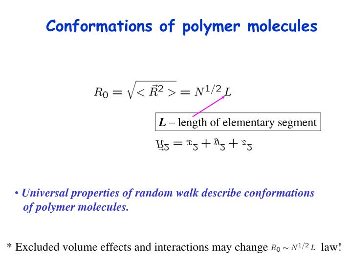 Conformations of polymer molecules