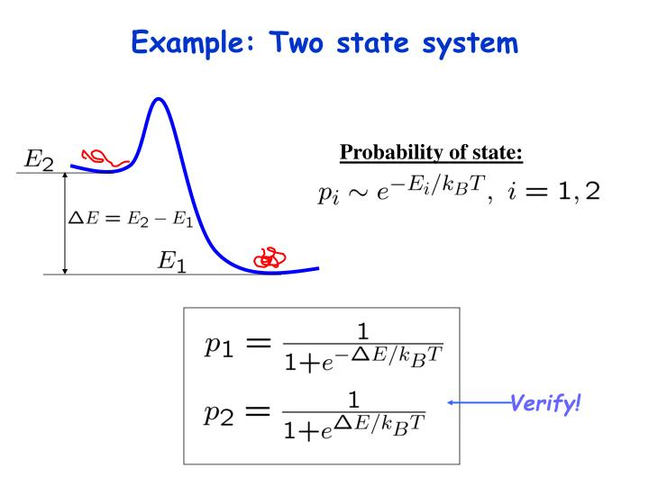 Example: Two state system