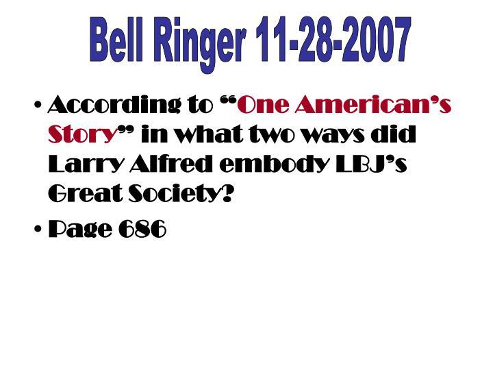 Bell Ringer 11-28-2007