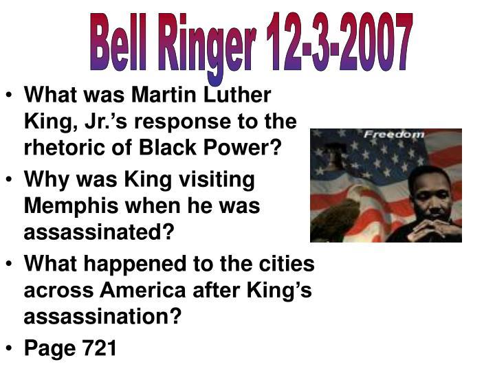Bell Ringer 12-3-2007