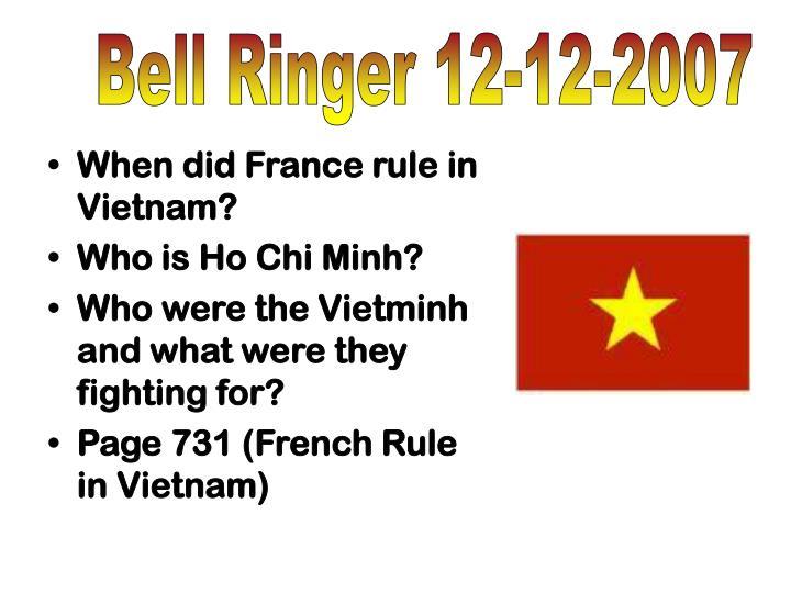 Bell Ringer 12-12-2007