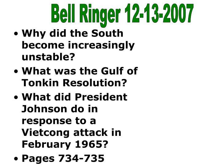 Bell Ringer 12-13-2007