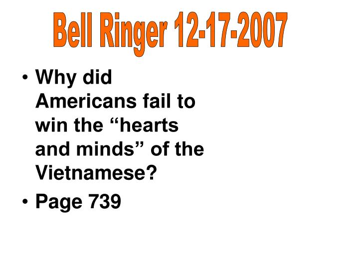 Bell Ringer 12-17-2007