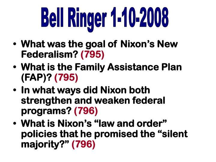 Bell Ringer 1-10-2008