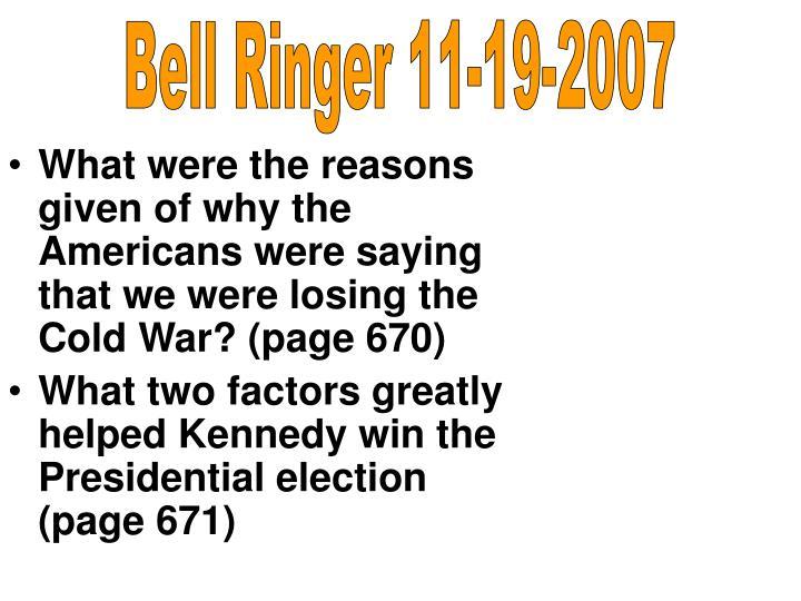 Bell Ringer 11-19-2007