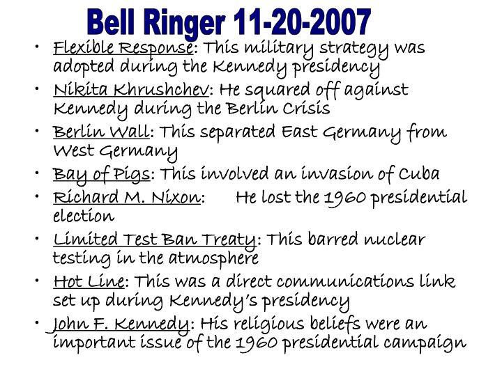 Bell Ringer 11-20-2007