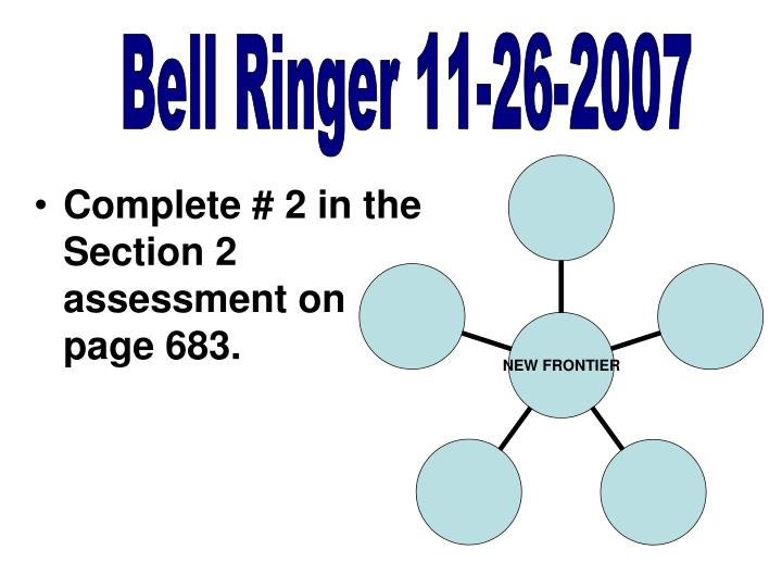Bell Ringer 11-26-2007