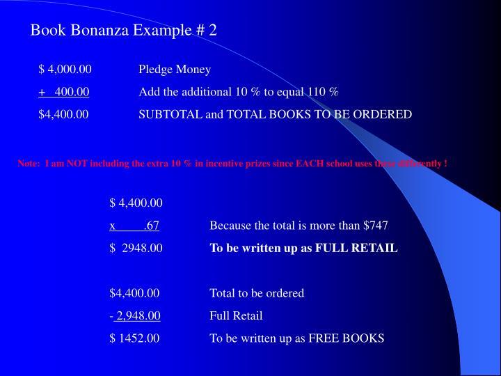Book Bonanza Example # 2