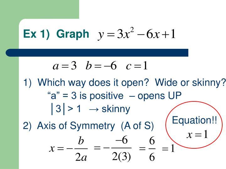 Ex 1)  Graph