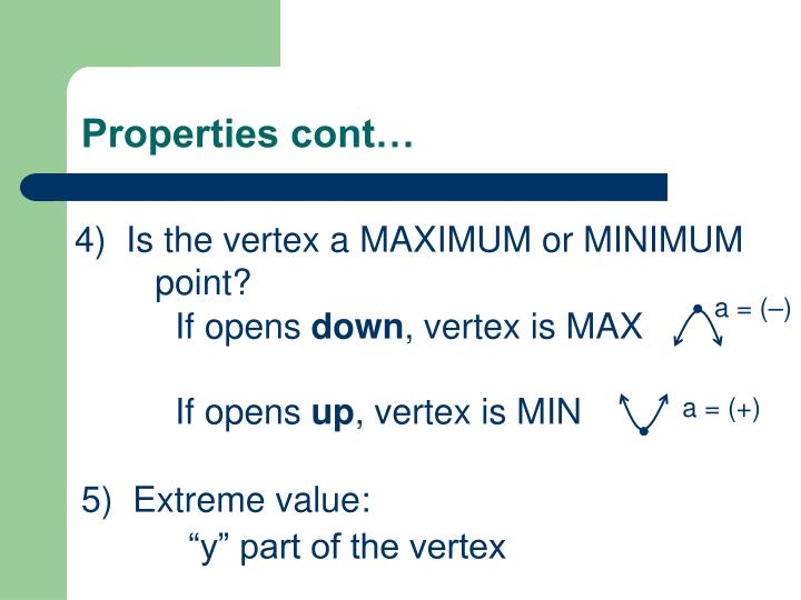 Properties cont…
