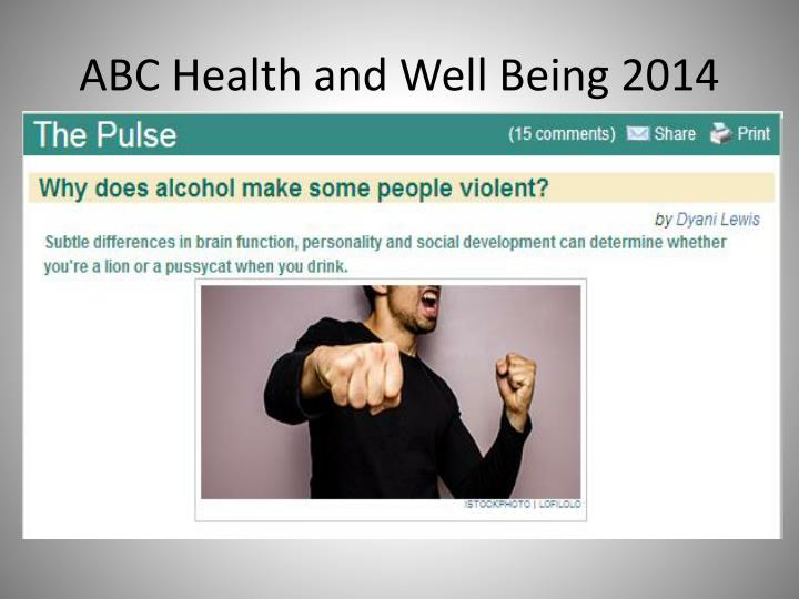 ABC Health and Well Being 2014