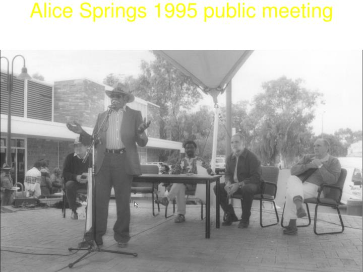 Alice springs 1995 public meeting